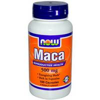 NOW Maca 500mg (100 капс)