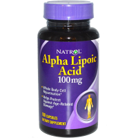 Natrol Alpha Lipoic Acid 100 mg (альфа-липоевая кислота) (100 капс)