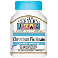 21st Century Chromium Picolinate 200 mcg
