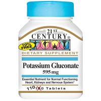 21st Century Potassium Gluconate 595 mg - Глюконат калия