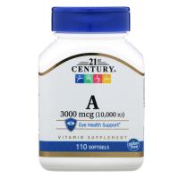 21st Century Vitamin A 3000 mcg (10,000 IU)