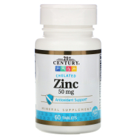 21st Century Zinc Chelated 50 mg
