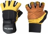 Перчатки для фитнеса Be First с фиксатором запястья(бежево-черные)