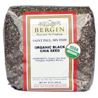 Bergin Organic Black Chia Seed (454 гр) - Органические черные семена чиа