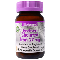 Bluebonnet Nutrition Chelated Iron 27 mg - Железо