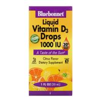 Bluebonnet Nutrition Liquid Vitamin D3 Drops 1000 IU (30 ml)