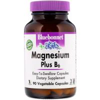 Bluebonnet Nutrition Magnesium Plus B6 - Магний плюс B6