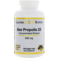 California Gold Nutrition Bee Propolis 2X 500 mg