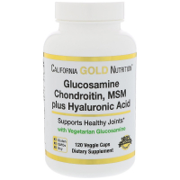 California Gold Nutrition Glucosamine Chondroitin MSM Plus Hyaluronic Acid