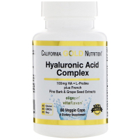 California Gold Nutrition Hyaluronic Acid Complex 100 mg