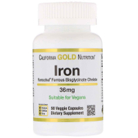 California Gold Nutrition Iron 36 mg