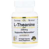 California Gold Nutrition L-Theanine 200 mg