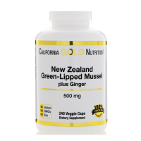 California Gold Nutrition New Zealand Green-Lipped Mussel Plus Ginger