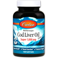 Carlson Labs Cod Liver Oil Super 1000 mg - Масло печени трески