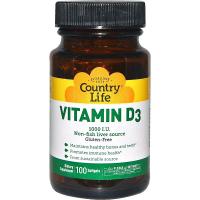 Country Life Vitamin D3 1000 IU