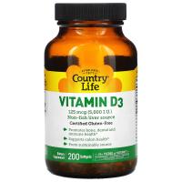 Country Life Vitamin D3 125 mcg (5,000 IU)