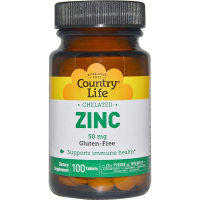 Country Life Zinc Chelated 50 mg