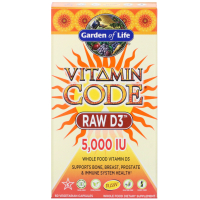 Garden of Life Vitamin Code Raw D3 5000 МЕ