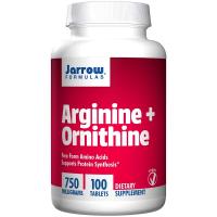 Jarrow Formulas Arginine + Ornithine 750 mg