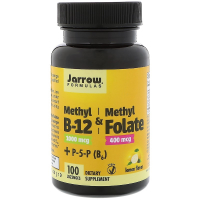 Jarrow Formulas Methyl B-12 & Methyl Folate 1000 mcg / 400 mcg