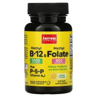 Jarrow Formulas Methyl B-12 & Methyl Folate 1000 mcg / 400 mcg