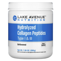 Lake Avenue Nutrition Hydrolyzed Collagen Peptides Type I & III (200 гр)
