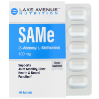 Lake Avenue Nutrition SAMe (S-Adenosyl L-Methionine) 400 mg