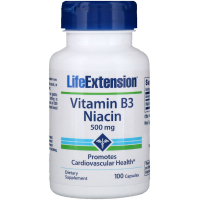 Life Extension Vitamin B3 Niacin 500 mg