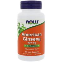 NOW American Ginseng 500 mg - Женьшень