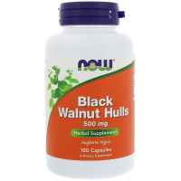NOW Black Walnut Hulls 500 mg - Черный орех
