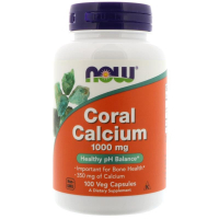 NOW Coral Calcium 1000 mg (100 капс)