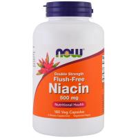 NOW Flush-Free Niacin 500 mg - Ниацин не вызывающий покраснений