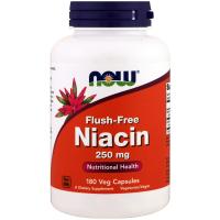 NOW Flush-Free Niacin 250 mg - Ниацин не вызывающий покраснений
