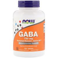 NOW GABA 750 mg (120 таб)