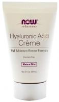 NOW Крем для лица Hyaluronic Acid PM Creme 2 oz (59 мл)
