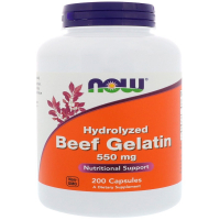 NOW Hydrolyzed Beef Gelatin 550 mg
