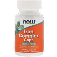 NOW Iron Complex Caps
