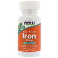 NOW Iron Double Strength 36 mg (90 капс)