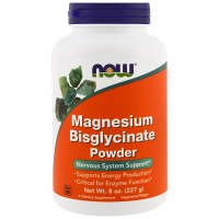 NOW Magnesium Bisglycinate Powder (227 гр)