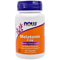 NOW Melatonin 3 mg (60 капсул)