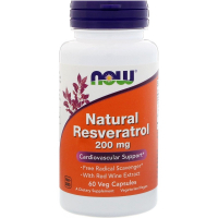 NOW Natural Resveratrol 200 mg - Ресвератрол