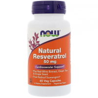 NOW Natural Resveratrol 50 mg - Ресвератрол