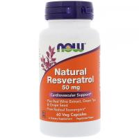 NOW Natural Resveratrol 50 mg - Ресвератрол