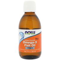 NOW Omega-3 Fish Oil Lemon Flavored
