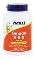 NOW Omega 3-6-9 1000 mg (100 капс)