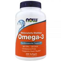 NOW Omega-3 1000mg (200 капс)