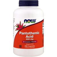 NOW Pantothenic Acid 500 mg (Vitamin B5) - Пантотеновая кислота