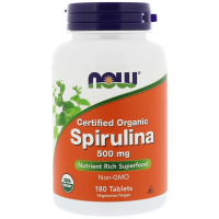 NOW Spirulina 500 mg - Спирулина