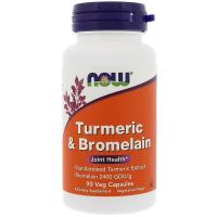 NOW Turmeric & Bromelain - Куркума и бромелайн
