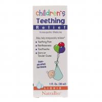 NatraBio Children's Teething Relief (30 мл) - Средство для снятия боли при прорезывании зубов у детей